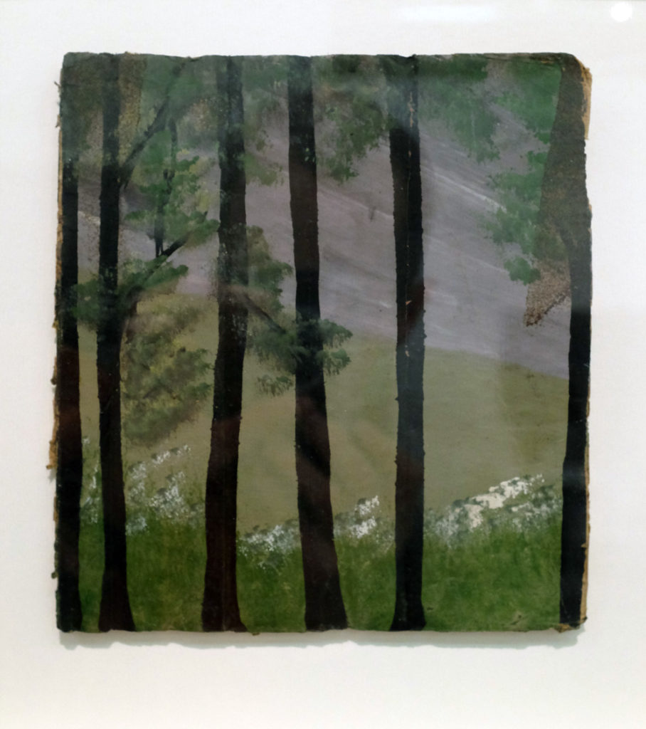 Frank Walter, Thin Trees with Grey Sky. Ingleby Gallery