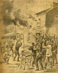'Destruction of the Record Office, in Wilmington Yesterday,' undated clipping from unknown newspaper, in a Manly Family Scrapbook at the Cape Fear Museum of History and Science