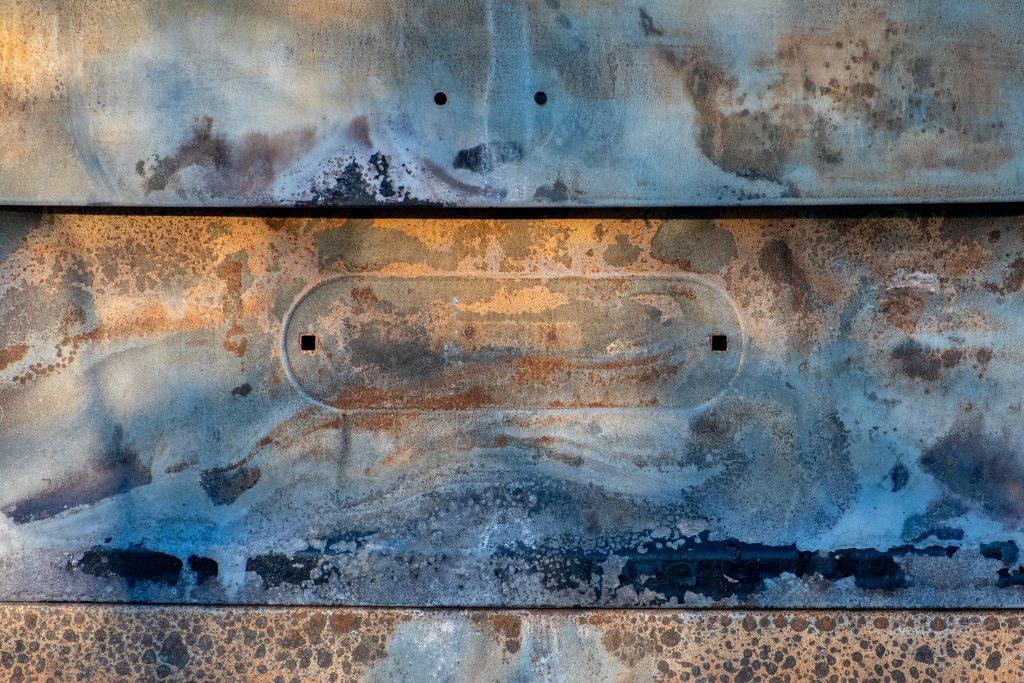 Hull of wrecked car, Marine Park Salt Marsh