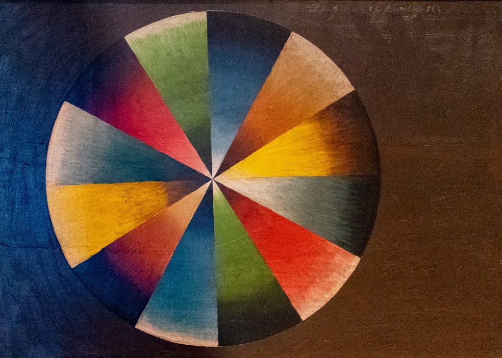 Thomas Cole's color wheel, Thomas Cole House, Catskill, NY